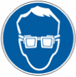 Работать в защитных очках - M 01