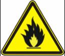 Пожароопасно. Легковоспламеняющиеся вещества - W 01