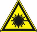 Опасно. Лазерное излучение - W 10