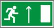 Направление к эвакуацинного прямо - E 11