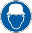 Работать в защитной каске (шлеме) - M 02