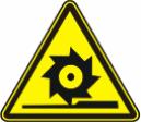 Осторожно. Режущие валы - W 22