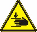 Осторожно, возможно травмирование рук - W 27
