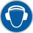 Работать в защитных наушниках (шлеме) - M 03