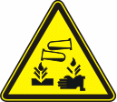 Опасно! Едкие и коррозионные вещества - W 04