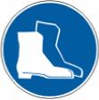 Работать в защитной обуви - M 05