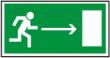 Направление к эвакуационному выходу направо - E 03