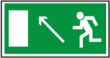 Направление к эвакуационному выходу налево наверх - E 06